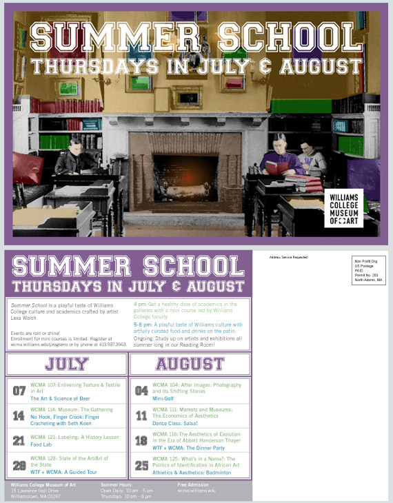 Summer School Postcard Sign Cara Borelli Graphic Designer