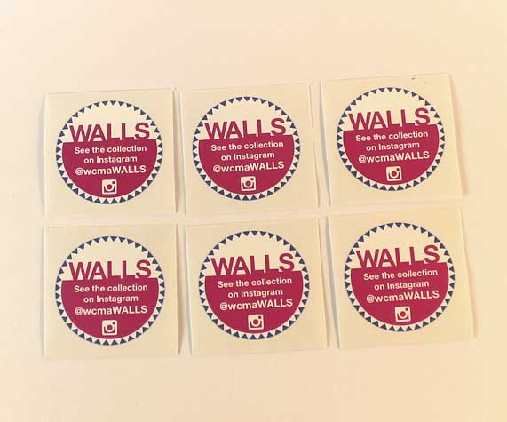 WALLS Sticker Cara Borelli Graphic Designer